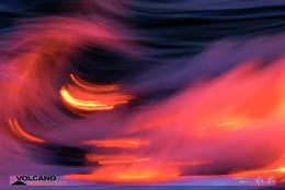 Lava und Meer mischen sich auf Hawaii.(c) Tom Pfeiffer http://www.VolcanoDiscovery.com