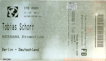 "The idea & name ""Methana Promotion"" and its domain name was used by Tobias Schorr since the year 2000. This is one document that proofes this with an entrance ticket to the international tourism trade fair ITB Berlin."