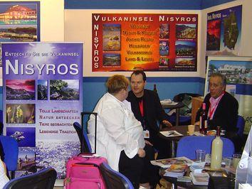 Der Nisyros-Stand auf der Touristikmesse ITB 2008