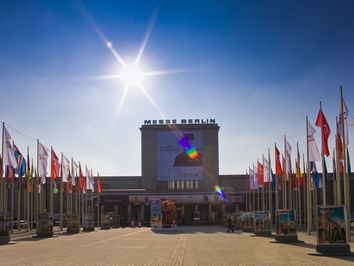 The entrance to the trade fair halls of the ITB Berlin in 2010