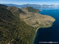 Der Lavadom und sein Lavastrom aus dem Osten mit der Drohne fotografiert.