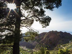 Blick auf den Lavadom von Kameni Chora