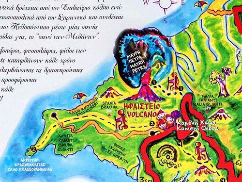 Ένα κακό παράδειγμα για έναν τουριστικό χάρτη από τα Μέθανα.