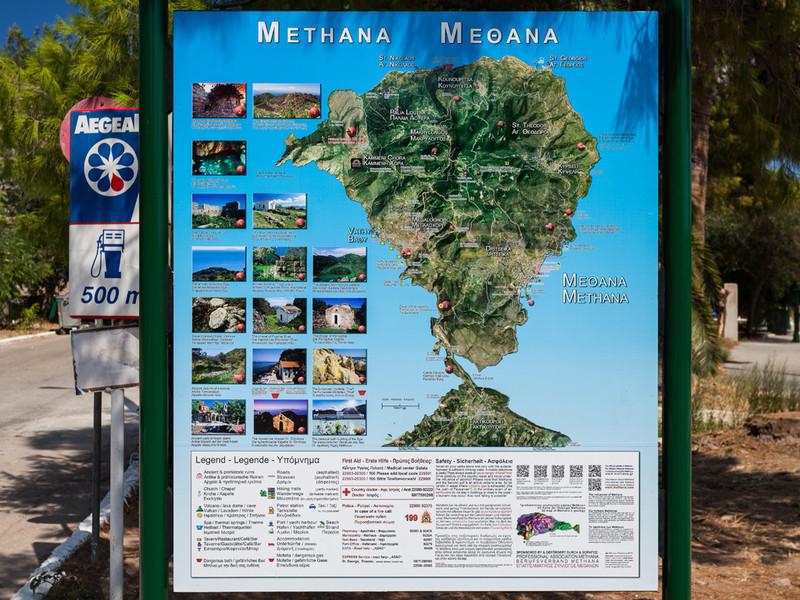 Die Methana-Karte am Hafen (c) Tobias Schorr