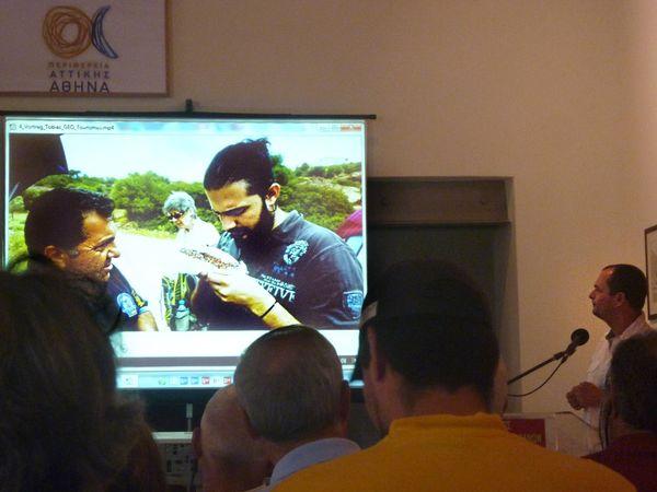 Ο Τωβίας Σώρρος μίλουσε για τις δυνατότητες του γεωλογικού τουρισμού στην Ελλάδα. Φωτογ. Ντάγμαρ Τσίρικα