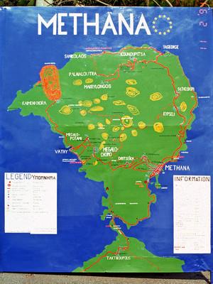 Diese Landkarte entwarf Tobias Schorr im Februar 1994 und sie informierte die Gäste bis 2015.