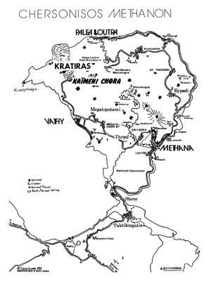 Die erste touristische Landkarte, die Tobias Schorr entwarf und die das Hafenamt dann an der Anlegestelle der Fähren anbrachte.