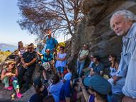 Der Vortrag von Dr. Prof. Volker Dietrich wurde aufmerksam von den Vertretern der Gemeinde Troizen-Methana, Geologen und Archäologen verfolgt.