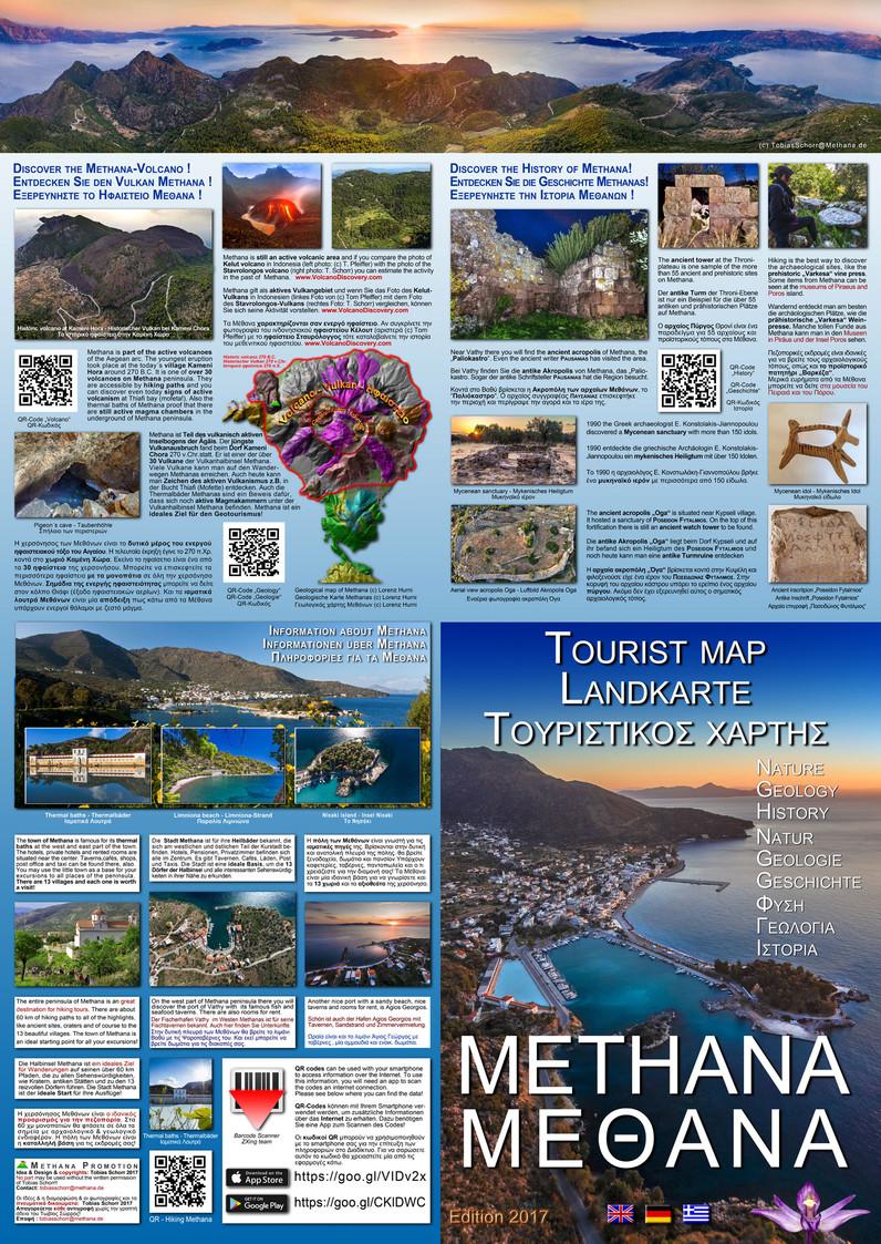 Die Rückseite der Karte mit Zusatzinformationen über Methana (c) Tobias Schorr